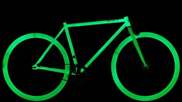 Pure Fix Cycles Glow in the Dark Fixed Gear Single Speed Urban Fixie Bike