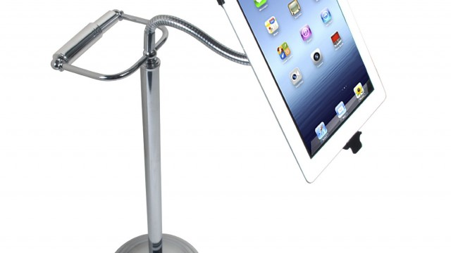 CTA Digital Pedestal Stand for iPad 2/3/4 with Roll Holder