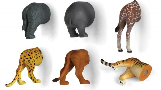Kikkerland Safari Animal Butt Magnets