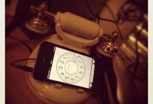 Classic Desk Telephone Retro Phone Corded Handset for iPhone