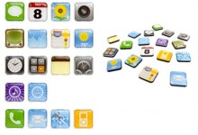 iPhone App Icon Fridge Magnets Set