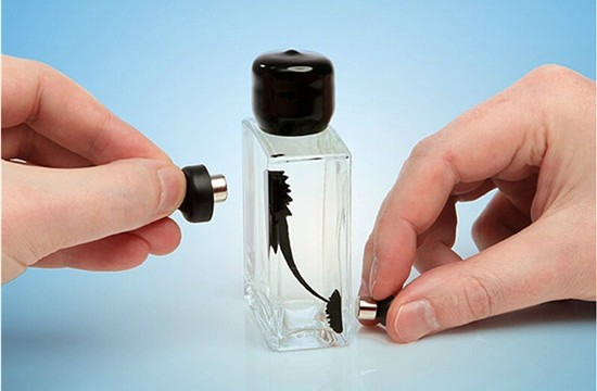 Magnetic Liquid Display Ferrofluid in a Bottle