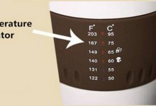 Cup with temperature indicator