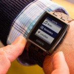 pebble steel on the hand
